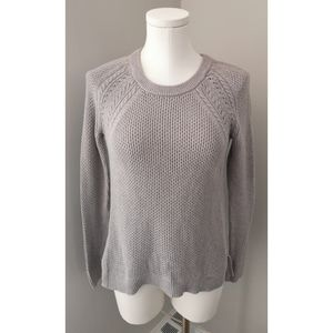 LOFT Beige Cable Knit crew neck Sweater